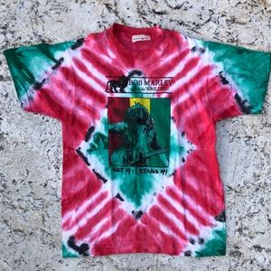 🔥🔥 Vintage 80s Bob Marley tye dye tee